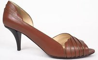 Ojour Tobacco Leather Brown Pumps
