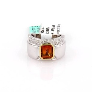 Other Koesis By Koesia 18k Two Tone Gold 2.85ct Emerald Citrine Diamond Ring