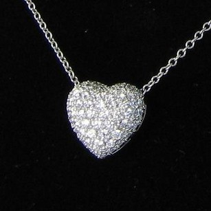 Kwiat Heart Pendant Necklace 1.25cts Diamonds 18k White Gold