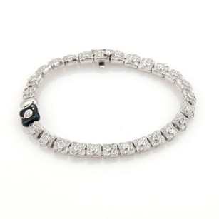 Other La Nouvelle Bague 2.35ct Diamonds 18k White Gold Floral Link Bracelet