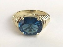 Ladies 14kt Yg London Blue Topaz Ring 7.25 Max063251