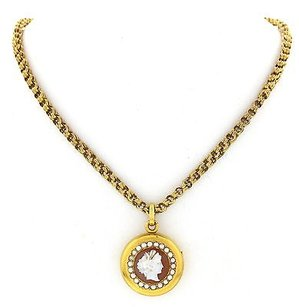 Ladies 22k Yellow Gold Pearl Locket 14k Yellow Gold Chain