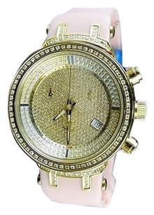 Other Ladies Joe Rodeojojojojino Gold Face Pink Diamond Watch .90 Ct Jjml5