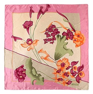 Large Square Silk Scarf Jacquard Scarf-Floral Print 36