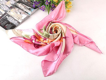 """Other Large Square Silk Scarf Jacquard Scarf-Floral Print 36""""x36""""(90x90cm) neckerchief"""