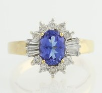 Le Vian Tanzanite Diamond Halo Cocktail Ring -18k Yellow Gold Polished 1.96ctw