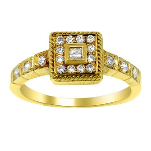 Other Leslie Greene 18k Yellow Gold And Diamond Ring 5.25
