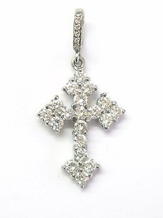 Other Loree Rodkin Platinum Diamond Gothic Cross Pendant 2.36ct