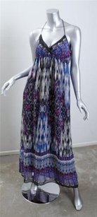 Multi-Color Maxi Dress by 382 Womens Spaghetti Strap