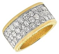 Mens 10k Yellow Gold Row Genuine Diamond Wedding Engagement Ring Band 3.5ct