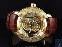 Mens Aqua Master Jojo Joe Rodeo Techno Kc Jesus W96 Yellow Diamond Watch