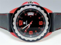 Other Mens Aqua Master Jojo Joe Rodeo W 334 Red And Black Diamond Watch Mm