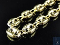 Mens Bonded 120th 10k Yellow Gold Mm Mariner Link Chain Necklace 24-32 Ins