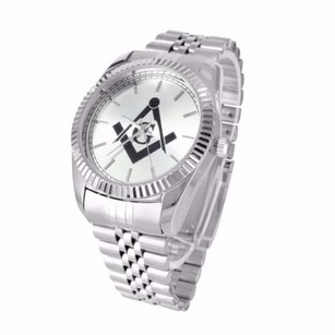 Other Mens Masonic Symbol Dial Stainless Steel Back Rodeo Jojo 47mm Wrist Techno Watch