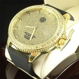 Mens Simulated Diamond Techno Pave Iced Out Hand Grenade Jojo Jojino Rodeo Watch