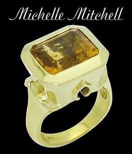 Other Michelle Mitchell 18k Yellow Gold Imperial Topaz Ring R443