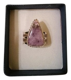 Natural Purple Tiffany Stone and Sterling Silver Ring