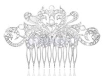 New Hair Comb Silver With Crystals