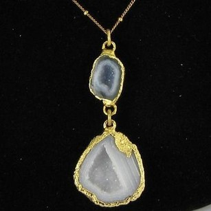 Other Nina Nguyen Infinity Necklace Geodes Druzy Sterling Silver 22k Yg