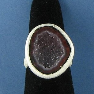 Nina Nguyen Lennox Ring Oval Purple Geode Sterling Silver