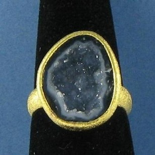 Other Nina Nguyen Lennox Ring Slate Blue Geode Sterling Silver 22k Yg