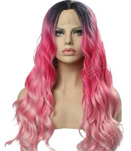 Ombre Pink Beauty Lacefront Wig 22-26 inches!!