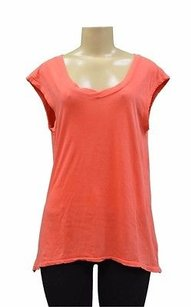 Stateside Scoop V Neck T Shirt Orange