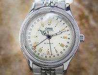 Oris Date Pointer Ref 7465 B Stainless Steel Automatic 1990s Men Dress Watch D92