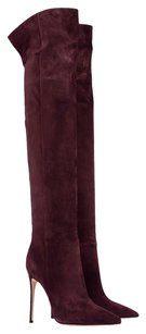 Other Over The Knee Over The Knee Suede Burgundy Boots