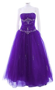 Other Pageant Tulle Embellished Evening Dress