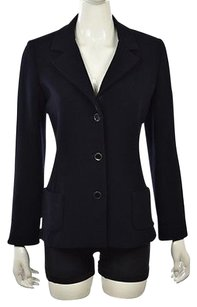 Other Leggiadro Womens Navy Blue Blazer Wtw Solid Career Wool Jacket Top