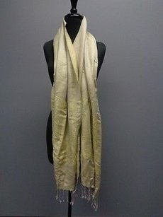Other Pashmina Yellow And Gray With Fringe Fashion Scarf O B2107