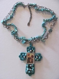 OTHER PENDANT/CHARM CROSS PICTURE NECKLACE