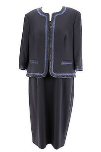 Personality Womens Suit Blue Polyester -