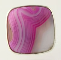 Other Pink Agate Ring - Sterling Silver 925 Womens Chunky Statement