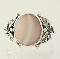Other Pink Mother Of Pearl Ring - Sterling Silver Floral 925 Womens