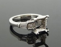Platinum 0.40tcw Princess Baguette Vs F-g Diamond Ring Mounting R172