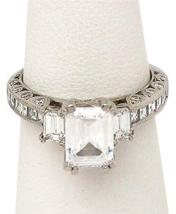 Other Platinum 1.15ctw Princess Round Emerald Cut Diamond Solitaire Mounting Ring
