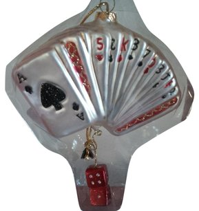 Playing Cards Glass Ornament
