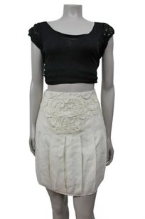 Other Koto Bolofo Ida Pleated Mini One Of A Kind Skirt Ivory