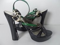 Other Roberto Cavalli Just Cavalli Blk Grn Patent Platform Pumps black green brown cream Flats