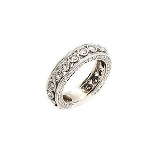 Other Ring 14k White Gold Band 1.70 Ct Round Shape G Vs1 Grams Womens