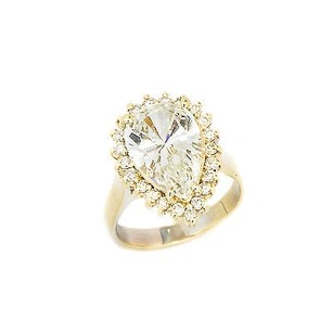 Ring 14k Yellow Gold 0.75 Ct J Si1 Switzerlan Quartz 6.9 Grams Womens