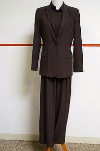 Other Ron Leal Brown Pinstripe Button Up Shirt Jacket Pleated Pant Suit 17578