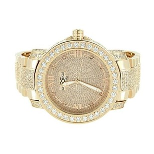 Rose Gold Tone Watch Diamond Khronos Mens Watch Iced Out Stainless Steel Back