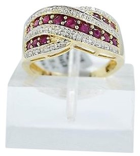 Other Ruby Ring 14k Yellow Gold .10ct Diamonds 0.64ct Ruby Womans Ring