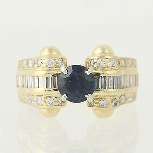 Other Sapphire Diamond Ring - 14k Yellow White Gold September Birthstone 2.18ctw