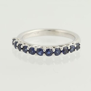 Sapphire Ring - 14k White Gold Womens September 1.12ctw