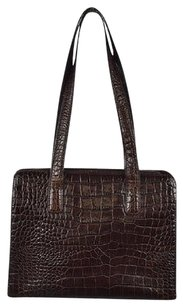 Other London Womens Handbag Animal Print Casual Satchel in Brown