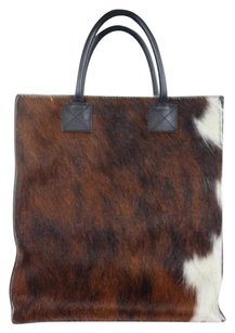 Spinney Beck Womens Satchel in Brown / Black / White